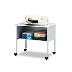 Mayline Mobile Machine Stand, 1-Shelf, 30w x 21d x 26-1/2h, Gray
