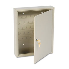 SteelMaster Dupli-Key Two-Tag Cabinet, 60-Key, Welded Steel, Sand, 14 x 3 1/8 x 17 1/2