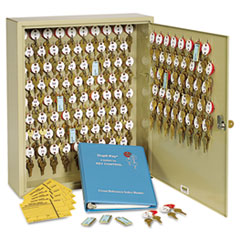SteelMaster Locking Two-Tag Cabinet, 120-Key, Welded Steel, Sand, 16 1/2 x 4 7/8 x 20 1/8