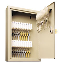 SteelMaster Uni-Tag Key Cabinet, 30-Key, Steel, Sand, 8 x 2 5/8 x 12 1/8