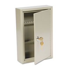 SteelMaster Steel Key Cabinet, 40-Key, Steel, Sand, 8 x 2 5/8 x 12 1/8