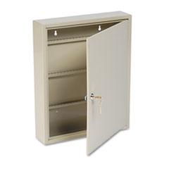 SteelMaster Uni-Tag Key Cabinet, 80-Key, Steel, Sand, 14 x 3 1/8 x 17 1/8