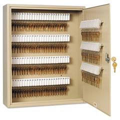 SteelMaster Uni-Tag Key Cabinet, 160-Key, Steel, Sand, 16 1/2 x 4 7/8 x 20 1/8