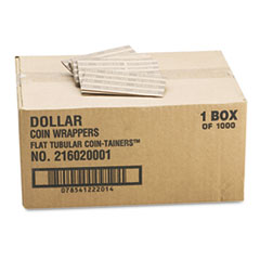 MMF Industries Flat Tubular Coin Wrappers, Dollar Coin, $25, Pop-Open Wrappers, 1000/Box