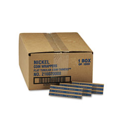MMF Industries Pop-Open Flat Paper Coin Wrappers, Nickels, $2, 1000 Wrappers/Box
