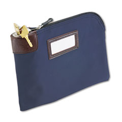 MMF Industries Seven-Pin Security/Night Deposit Bag, Two Keys, Nylon, 11 x 8 1/2, Navy