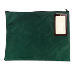 MMF Industries Cash Transit Sack, Nylon, 18 x 14, Dark Green