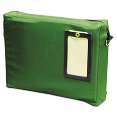 MMF Industries Expandable Dark Green Transit Sack, 14w x 11h x 3d