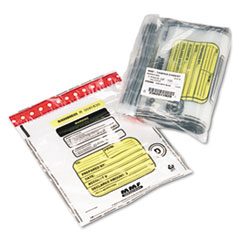 MMF Industries Tamper-Evident Deposit/Cash Bags, Plastic, 12 x 16, Clear, 100 Bags/Box
