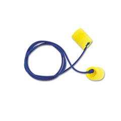 3M E�A�R Classic Earplugs, Corded, PVC Foam, Yellow, 200 Pairs