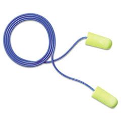 3M E�A�Rsoft Yellow Neon Soft Foam Earplugs, Corded, Regular Size, 200 Pairs