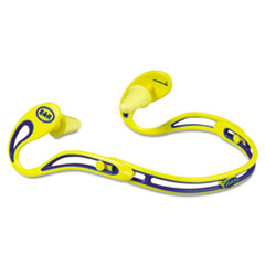 3M E�A�R Swerve Banded Hearing Protector, Corded, Yellow