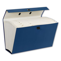 """Smead® FILE CASE 19 PKT BEGN EXPANDING FILE BOX, 16.63"""" EXPANSION, 19 SECTIONS, 1-19-CUT TAB, LEGAL SIZE, BLUE"""