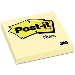 Post-it Notes Original Notes, 3 x 3, Canary Yellow, 12 100-Sheet Pads/Pack