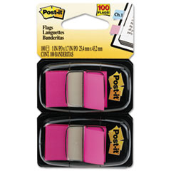 Post-it Flags Standard Tape Flags in Dispenser, Bright Pink, 100 Flags/Dispenser