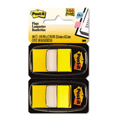 Post-it Flags Marking Flags in Dispensers, Yellow, 12 50-Flag Dispensers/Box