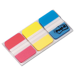Post-it Tabs Durable File Tabs, 1 x 1 1/2, Assorted Standard Colors, 66/Pack