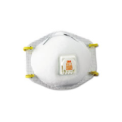 3M Particulate Respirator w/Cool Flow Exhalation Valve, 10 Masks/Box