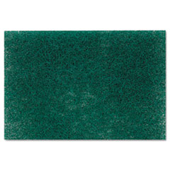 Scotch-Brite Commercial Heavy-Duty Scouring Pad, Green, 6 x 9, 1 Dozen