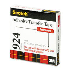 Scotch Adhesive Transfer Tape, 1/2 Wide x 36 Yards