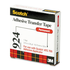 Scotch Adhesive Transfer Tape Roll, 3/4