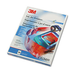 3M Inkjet Transparency Film, Letter, Clear, 50/Box