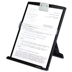 3M Fold-Flat Freestanding Desktop Copyholder, Plastic, 150 Sheet Capacity, Black
