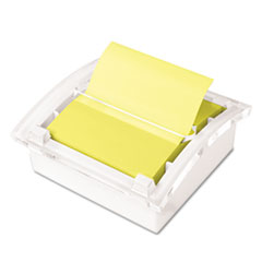 Post-it Pop-up Notes Clear Top Pop-up Note Dispenser for 3 x 3 Self-Stick Notes, White