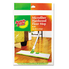 Scotch-Brite Hardwood Floor Mop Refill, Microfiber