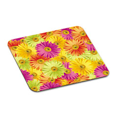 3M Scenic Foam Mouse Pad, Nonskid Back, 9 x 8, Daisy Design