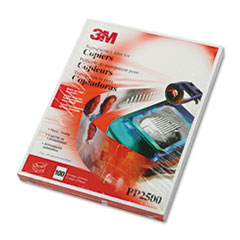 3M Transparency Film for Laser Copiers, Ltr, Clear, 100/Box