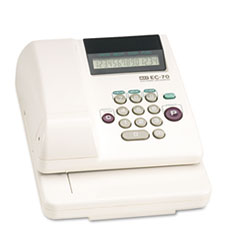 Max Electronic Checkwriter, 14-Digit, 7-7/8 x 9-5/8 x 3-5/8