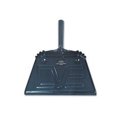 AbilityOne 7290002248308 Steel Dustpan, 12w x 13 1/2l x 4h, Black