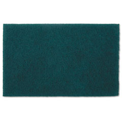 AbilityOne 7920007535242 Scouring Pad, Medium Grade, Nylon, Green, 10/ Pack