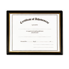 NuDell Framed Achievement/Appreciation Awards, 11w x 8 1/2h, 2 Designs, 18/Carton