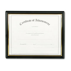 Nu-Dell Framed Achievement/Appreciation Awards, Two Designs, Letter