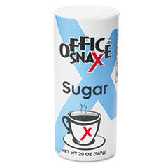 Office Snax Reclosable Canister of Sugar, 20-oz.
