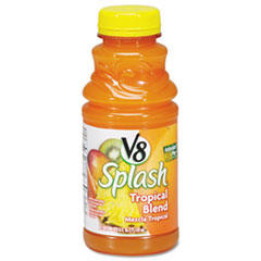 Campbell�s V-8 Splash, Tropical Blend, 16 oz. Bottle, 12/Box