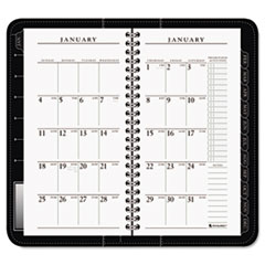 AT-A-GLANCE Executive Recycled Weekly/Monthly Appointment Book, Black, 3 1/4