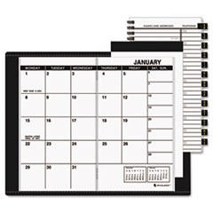 AT-A-GLANCE Recycled Monthly Planner, Unruled, 3-1/2 x 6-1/8, Black, 2014-2015