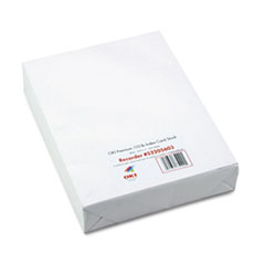 Oki Premium Card Stock, 110 lbs., Letter, White, 250 Sheets/Box