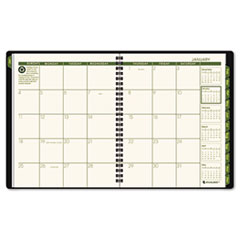 AT-A-GLANCE Recycled Monthly Planner, Green, 6 7/8