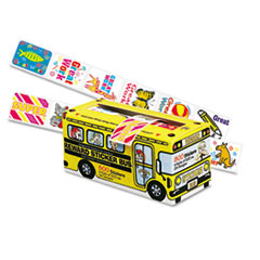 Pacon Big School Bus Reward Stickers, Assorted Designs, 800 Stickers per Box