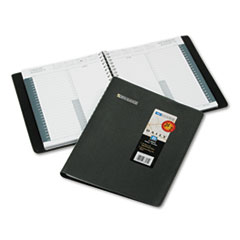 AT-A-GLANCE Recycled 24-Hour Daily Appointment Book, 8-1/2 x 11, Black, 2015
