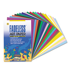 Pacon Fadeless Assorted Paper, 50 lbs., 12 x 18, 60 Sheets/Pack
