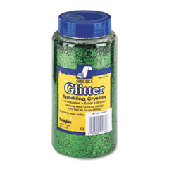 Pacon Spectra Glitter, .04 Hexagon Crystals, Green, 16 oz Shaker-Top Jar