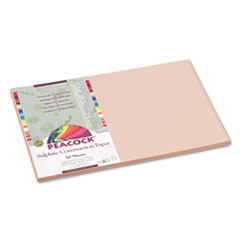 Pacon Peacock Sulphite Construction Paper, 76 lbs, 12x18, Light Brown, 50 Sheets/Pack