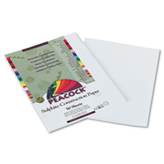 Pacon Peacock Sulphite Construction Paper, 76 lbs, 9 x 12, Bright White, 50 Sheets/Pk