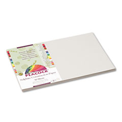 Pacon Peacock Sulphite Construction Paper, 76 lbs, 12 x 18, Pearl Gray, 50 Sheets/Pack