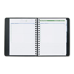 AT-A-GLANCE The Action Planner Recycled Daily Appointment Book, Black, 6 7/8
